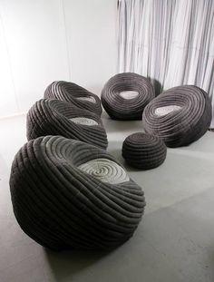 Wool felt armchair NDEBELE CHAIR - Ronel Jordaan™