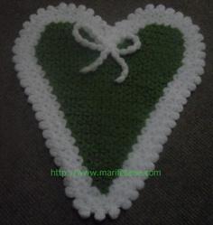 Yeni Kolay ve Güzel kalpli Lif Modelleri crochet Washcloth