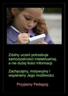 przyjazny pedagog : Dziecko zdolne - potrzebuje samodzielności intelek...