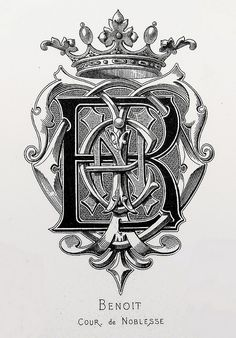 "Monogram ""Benoit"" by Charles Demengeot - 1877"