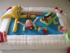 Swimming party cake.