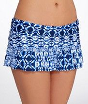 La Blanca: Tangier Tile Skirted Swim Bottom