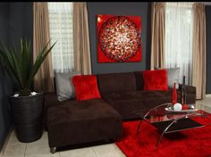 Wonderful Red And Brown Interior Decoration. Negro Y Rojo