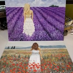 """Free Acrylic Painting Tutorials by Angela Anderson on YouTube """"Woman in Lavender Field"""" and """"Woman in Poppy Field""""  #fredrixcanvas #princetonbrushes #art #painting #lavender #flowerpainting #runawaybrideseries Time Painting, Painting Lessons, Painting & Drawing, Acrylic Canvas, Canvas Art, Champs, Online Art Classes, Painting Workshop, Acrylic Painting Tutorials"""
