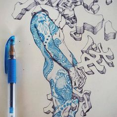"Artist:  James Jean  ""Getting Inked""  https://www.facebook.com/pages/James-Jean/19612561823?fref=photo"