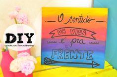 DIY Quadro Decorativo com Frase
