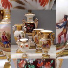 ensemble de vases en porcelaines décors divers  . XIX siècle . . XX siècle .
