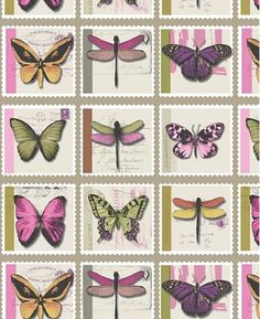 Butterfly wallpaper is delicate, soft and peaceful but can also be bright and fun. Butterfly Wallpaper, Exotic, Delicate, Vibrant, Pastel, Neon, Colours, Pretty, Butterflies