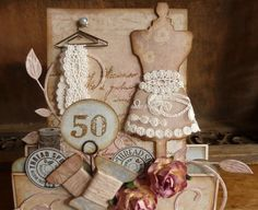 love me some dress forms! Luv the hanger holding lace trim. Fancy Fold Cards, Folded Cards, Side Step Card, Sewing Cards, Dress Card, Shabby Chic Cards, Step Cards, Shaped Cards, Easel Cards