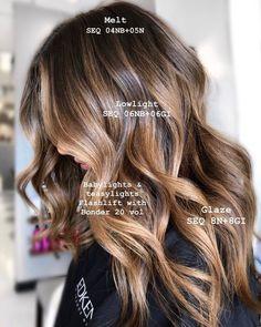 Brown Hair Balayage, Brown Hair With Highlights, Brown Blonde Hair, Light Brown Hair, Hair Color Balayage, Brunette Hair, Haircolor, Bronde Balayage, Brunette Highlights