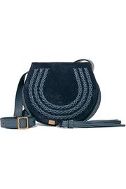 Marcie mini suede and leather shoulder bag CHLOE