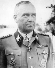 As SS-Obergruppenführer and head of all Einsatzgruppen in Eastern Russia, Friedrich August Jeckeln ordered the deaths of over 100,000 people. So efficient were his methods that they were known as the Jeckeln System. Jews were organized into columns of 500 to 1000 people and taken to the killing grounds where they were stripped and made to lie on top of corpses of those shot before them. The Germans called this Sardinenpackung (Sardine packing). Jeckeln was hanged in 1946 by the Russians.