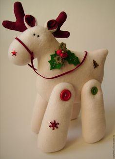 Купить Новогодний лось по мотивам Тильда - Новый Год, лось, новогодний подарок, новогодний сувенир