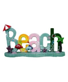 Another great find on #zulily! 'Beach' Block Sign #zulilyfinds