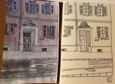 A sketch from Erlangen, Baveria. And a try of colouring it.