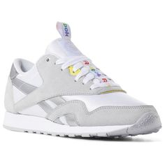 22577cdca9005f Reebok Shoes Women s Classic Nylon x SoulCycle in Cold Grey White Yellow  Size 11 - Retro Running Shoes