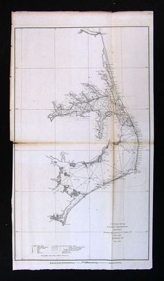 An old Outer Banks ferry map. We are going to use an OBX map as our guestbook :)