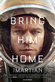 The Martian - Adventure, Drama, Sci-Fi - During a manned mission to Mars, Astronaut Mark Watney is presumed dead after a fierce storm and left behind by his crew. But Watney has survived and finds himself stranded and alone on the hostile planet. With only meager supplies, he must draw upon his ingenuity, wit and spirit to subsist and find a way to signal to Earth that he is alive.