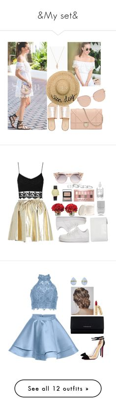 """""""&My set&"""" by alibasicamina ❤ liked on Polyvore featuring L.E.N.Y., Eugenia Kim, Topshop, Zara Home, Komono, Maybelline, Burberry, Jimmy Choo, The French Bee and NIKE"""