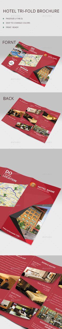 Hotel tri-fold Brochure Template #design Download: http://graphicriver.net/item/hotel-trifold-brochure/12957529?ref=ksioks