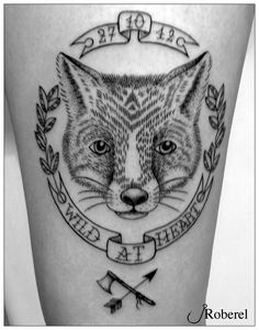 black and white fox head. Deer Tattoo, Raven Tattoo, Tattoo Ink, Head Tattoos, Fox Tattoos, Tree Tattoos, Tatoos, Satanic Tattoos, Geometric Tattoo Arm