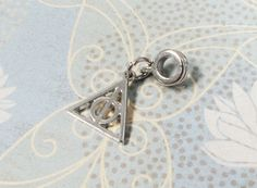 Little Triangle Bracelet Charm, inspired by harry potter deathly hallows