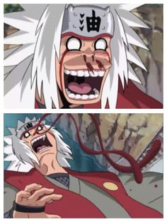 Master Jiraiya doing research. he should stop his reasrch or the thing hes reasching is going to beat the crap out of him