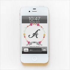 iphone wallpaper monograms