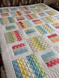 Mama D's Quilt - Made from Oh Clementine Jelly Roll by Cluck Cluck Sew from Windham fabrics.