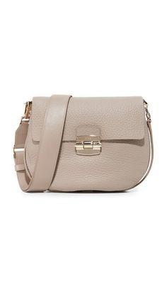 FURLA Club Small Saddle Bag. #furla #bags #shoulder bags #leather #