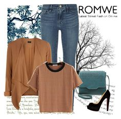 """""""Romwe contest"""" by istrijana ❤ liked on Polyvore featuring Frame Denim, Zign and Christian Louboutin"""
