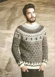 - Icelandic Gnótt Mens Wool Sweater Grey - Tailor Made - Nordic Store Icelandic Wool Sweaters - 1 Fair Isle Knitting Patterns, Sweater Knitting Patterns, Knitting Designs, Icelandic Sweaters, Wool Sweaters, Wool Cardigan, Grey Sweater, Men Design, Bunt