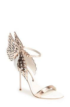 Free shipping and returns on SOPHIA WEBSTER 'Evangeline' Sandal (Women) at Nordstrom.com. Laser-cut butterfly wings quite literally stand out on a signature Sophia Webster strappy sandal. Rose-gold leather perfectly incorporates the of-the-moment metallic tone into a lofty look that's sure to turn heads.