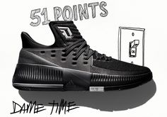 """super popular 12160 6fd2b #sneakers #news adidas Honors Dame Lillard's Incredible Accomplishments  With Lillard 3 """"Lights Out"""