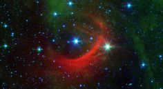 Roguish runaway stars can have a big impact on their surroundings as they plunge through the Milky Way galaxy. Their high-speed encounters shock the galaxy, creating arcs, as seen in a newly released image from NASA's Spitzer Space Telescope.