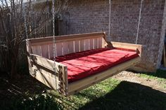 Brand New Cedar Daybed Swing in Country style, Queen Size Swinging Bed - Free Shipping