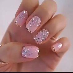 Uñas Rosas Decoradas Con Hermosos, Me Encantó! Uñas Rosas Decoradas Con Hermosos, Me Encantó! Trendy Nail Art, Stylish Nails, Fancy Nail Art, Cute Nails, Pretty Nails, Easy Nails, Nagellack Design, Gel Nail Designs, Nails Design