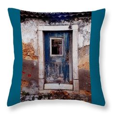 Throw Pillow featuring the photograph Abandoned 05 by Dora Hathazi Mendes #pillow #homedecor #dorahathazi