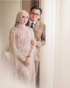 Too beautiful not to post. Regram from . Kebaya Wedding, Muslimah Wedding Dress, Hijab Style Dress, Muslim Wedding Dresses, Wedding Hijab, Wedding Party Dresses, Dress Outfits, Bridesmaid Dresses, Wedding Reception