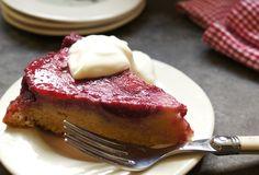 Upside Down Plum Cake Recipe by Mom's Kitchen Handbook