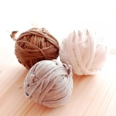 Recycle your old t-shirts into yarn ready to crochet and knit.