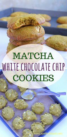 Matcha white chocolate chip cookies is a pleasant variation on the classic chocolate chip cookie. The matcha taste marries well with the white chocolate. Frozen Cookie Dough, Frozen Cookies, White Chocolate Chip Cookies, White Chocolate Chips, How To Make Matcha, Matcha Tea Powder, American Cookie, Toddler Snacks, Baking