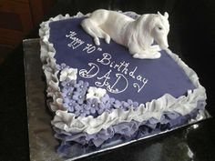 100% handmade Horse on a special birthday cake