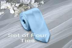 Pale Blue Wedding Ties 4 set . Quantity 4 TIES . by DreamWeddingg