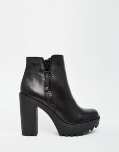Image 1 of River Island Chunky Sole Heeled Boots