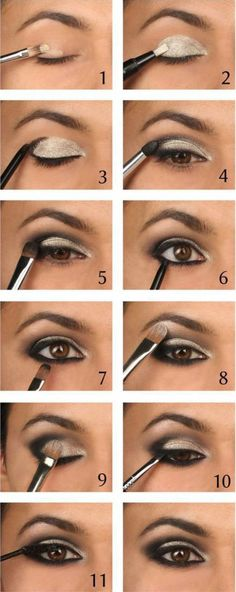 Makeup Ideas For Prom - Intense Metallic Smokey Eye Tutorial - These Are The Bes. Makeup Ideas For Prom - Intense Metallic Smokey Eye Tutorial - These Are The Best Makeup Ideas For Prom and Ho Eyeshadow Tutorial For Beginners, Smokey Eye Makeup Tutorial, Eye Tutorial, Eyeshadow Tutorials, Cut Crease Tutorial, Eyeliner Tutorial, Makeup Guide, Eye Makeup Tips, Makeup Ideas