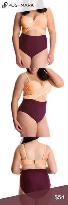 981940f5bf631 NWT Lysa Swim 1 Piece Cut Out Swimsuit 0X-3X Lysa Women's Carly plus size