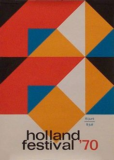 1970 Poster. Elffers (1910-1990) was a famous Dutch graphic artist