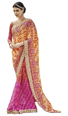 http://www.thatsend.com/shopping/lp/fvp/TESG204900/i/TE268084/iu/magenta-georgette-traditional-saree  Magenta Georgette Traditional Saree Apparel Pattern Printed. Work Print, Border Lace. Blouse Piece Yes. Embroidery Method Machine. Occasion Diwali, Festive.