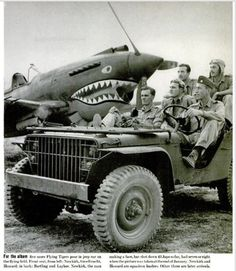 Jeep with Flying Tigers pilots in China. March 30, 1942 article in LIFE magazine.